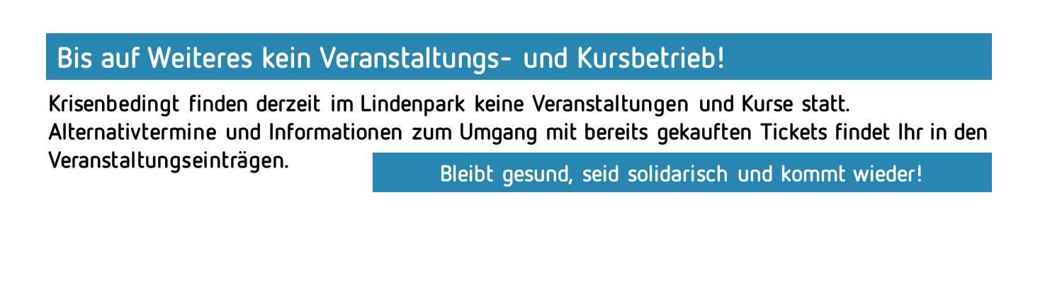 Aktueller Hinweis Lindenpark Potsdam