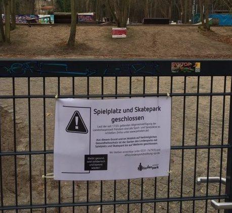 Spielplatz Lindenpark geschlossen