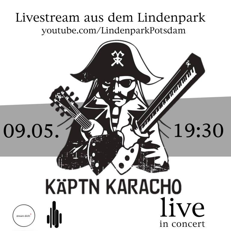 Käptn Karacho im Livestream aus dem Lindenpark