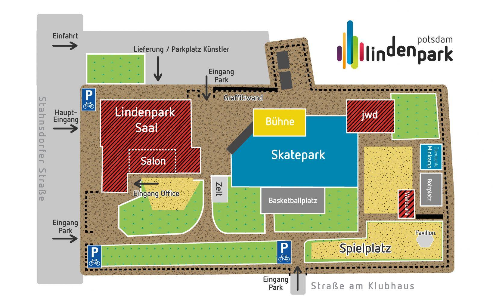 Lindenpark Potsdam Geländeplan