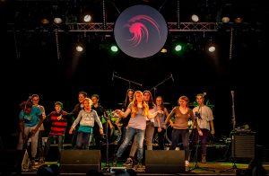 Musical-Eigenproduktion im Rahmen eines Mach Musik Feriencamps