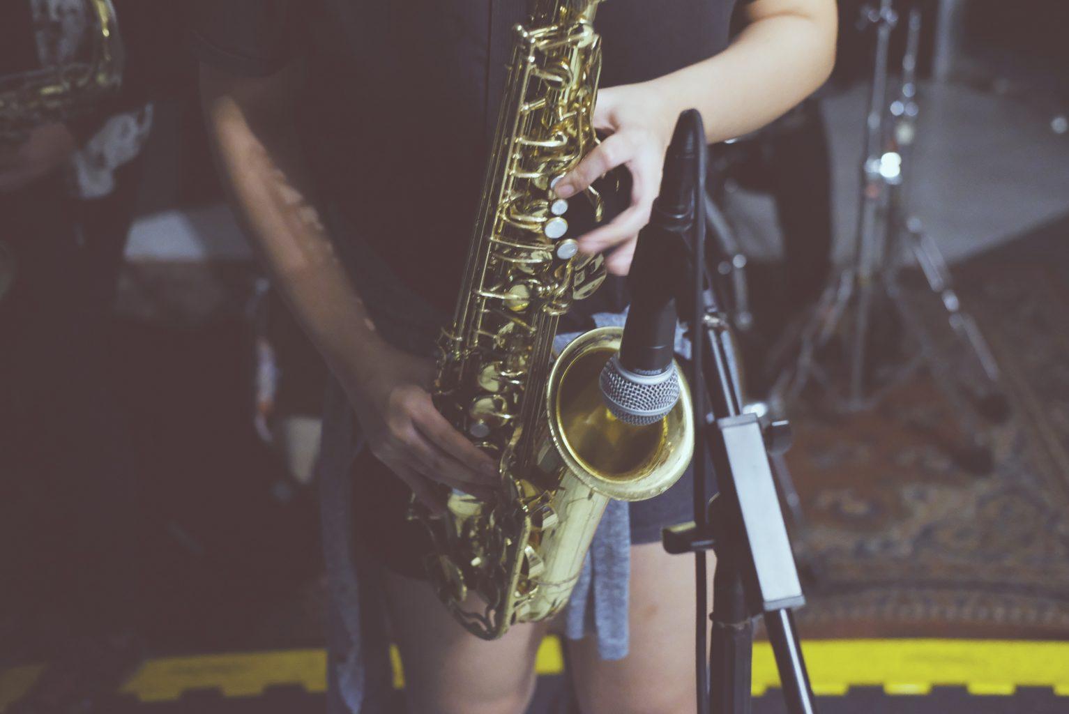 Saxophon mit Anna und Giulia im Lindenpark